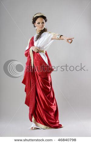 Rich Roman Lady Roman Clothes Roman Dress Greek Clothing