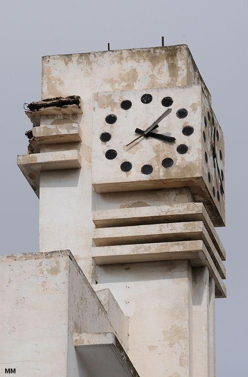 Tunis Tunisia Artdeco Architecture Clocktower Clock Art