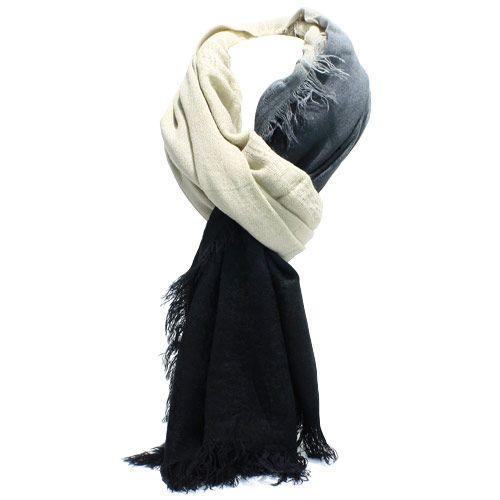 Black & white gradient scarf