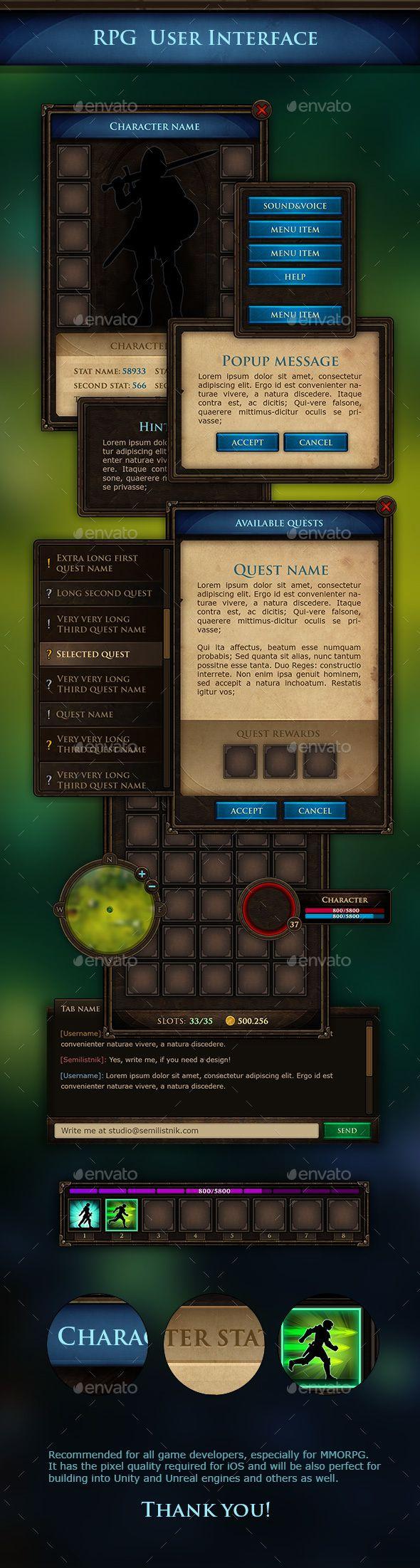 MMORPG UI Kit (User Interfaces)   Game Assets   Game ui