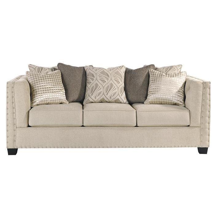 Queen Sofa Sleeper In Milari Linen Nebraska Furniture Mart