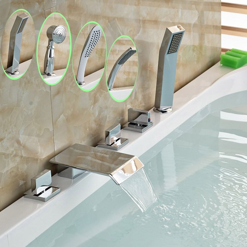 Wholesale And Retail Good Quality Deck Mounted Chrome 5 Holes
