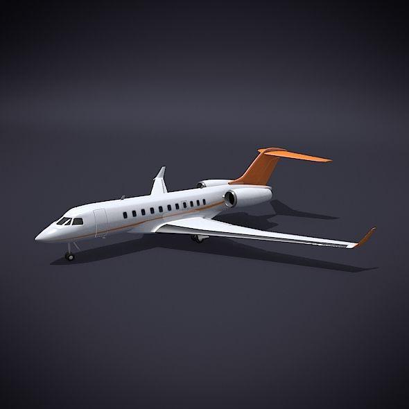 Bombardier 5000 Global Private Jet Private Jet Jet 3d Model