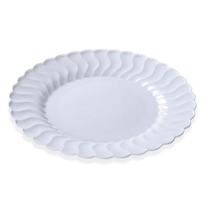 White Flairware 10 Inch Plastic Dinner Plates Case Of 144 Tags Dinner Plates Flairware Disposa Elegant Plates Elegant Plastic Dinnerware Elegant Dinnerware