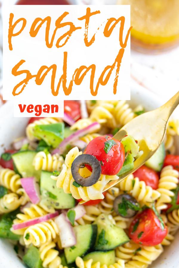Vegan Italian Pasta Salad Plant Well Recipe In 2020 Easy Homemade Pasta Vegan Comfort Food Vegan Lunch Recipes