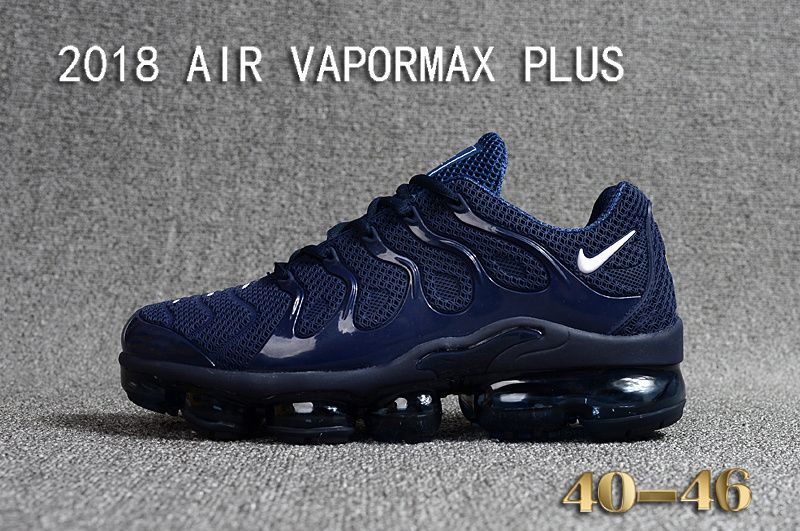 c1bb40c8446 2018 Nike Air Vapormax Plus KPU Mens Running Shoes For Sale Navy Blue