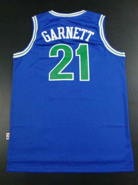8de3abf7a Adidas NBA Minnesota Timberwolves 21 Kevin Garnett Swingman Throwback Blue  Jerseys
