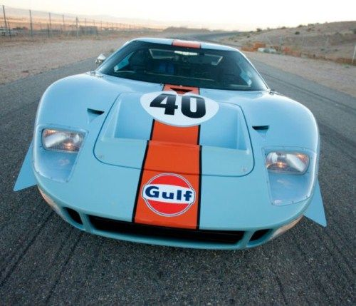 This 1968 Ford Gt40 Gulf Mirage Lightweight Racing Car Has
