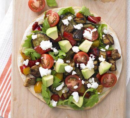Roasted Vegetable & Feta Tostada by BBC Good Food