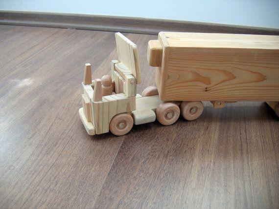 Jeffery Kühlschrank aus Holz Spielzeug LKW flache Nase | Trucks ...