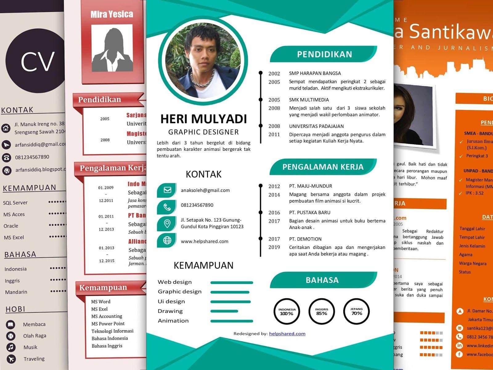 Desain CV Menarik 2020 / Cara Buat CV Menarik di Word 2020