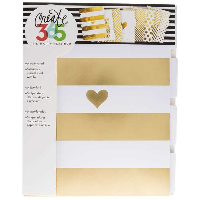 create 365 gold foil dividers create 365 spaces and house