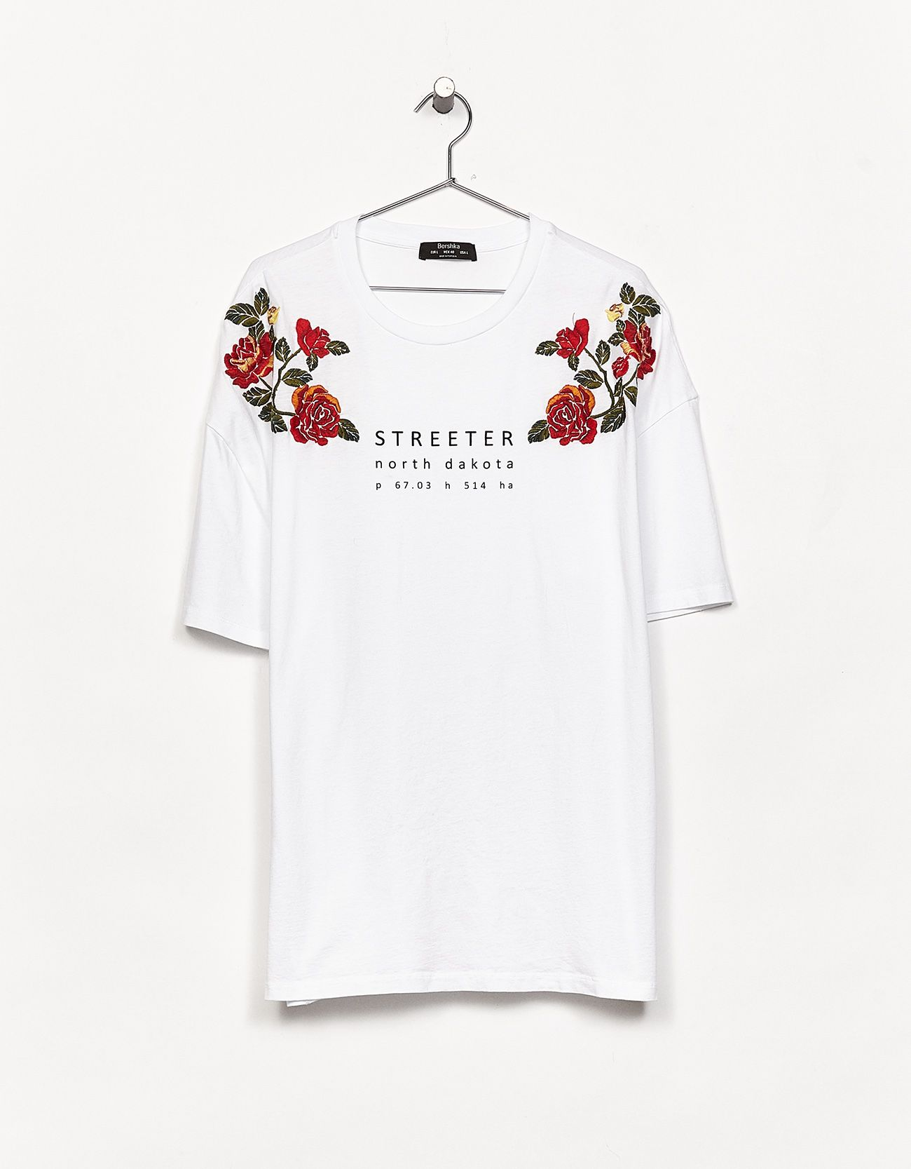 T Shirt With Embroidered Slogans Discover This And Many More Items