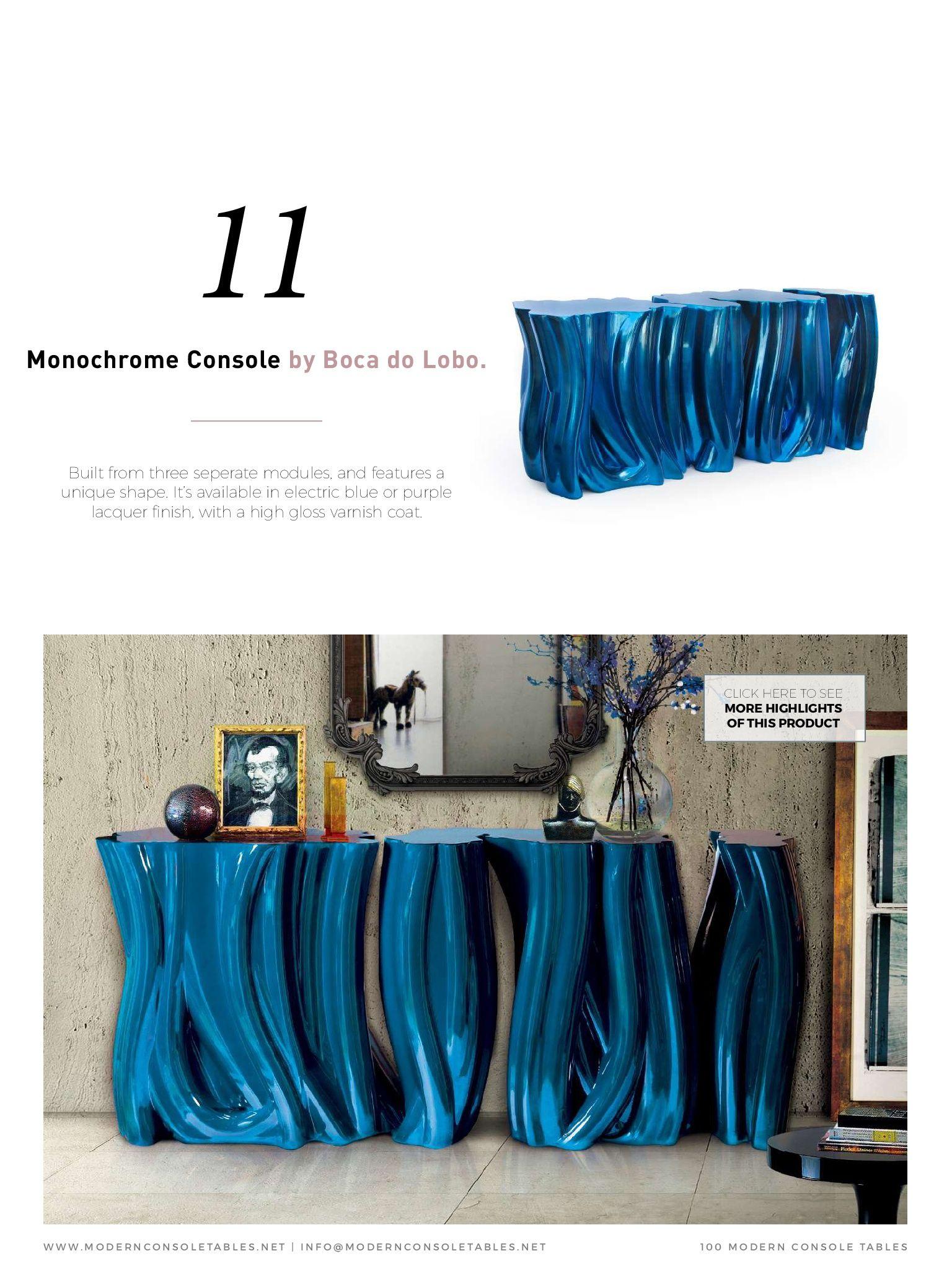 Современные Консольные Столы, сделанные лучшими дизайнерами интерьеров и люксовыми брендами мира. Создан специально для современного домашнего декора.