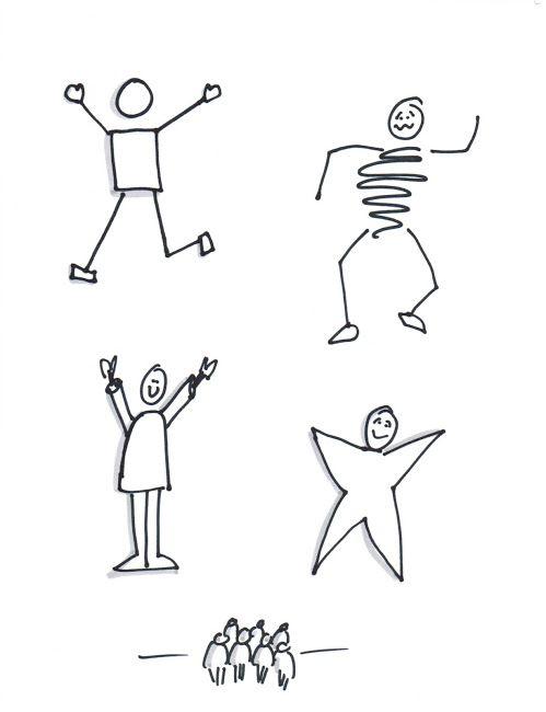 Bonhomme Graphique différents styles de bonhommes | facilitation graphique | desenhos