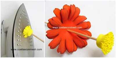 Cmo hacer flores en goma eva paso a paso Pinterest Hacer flores