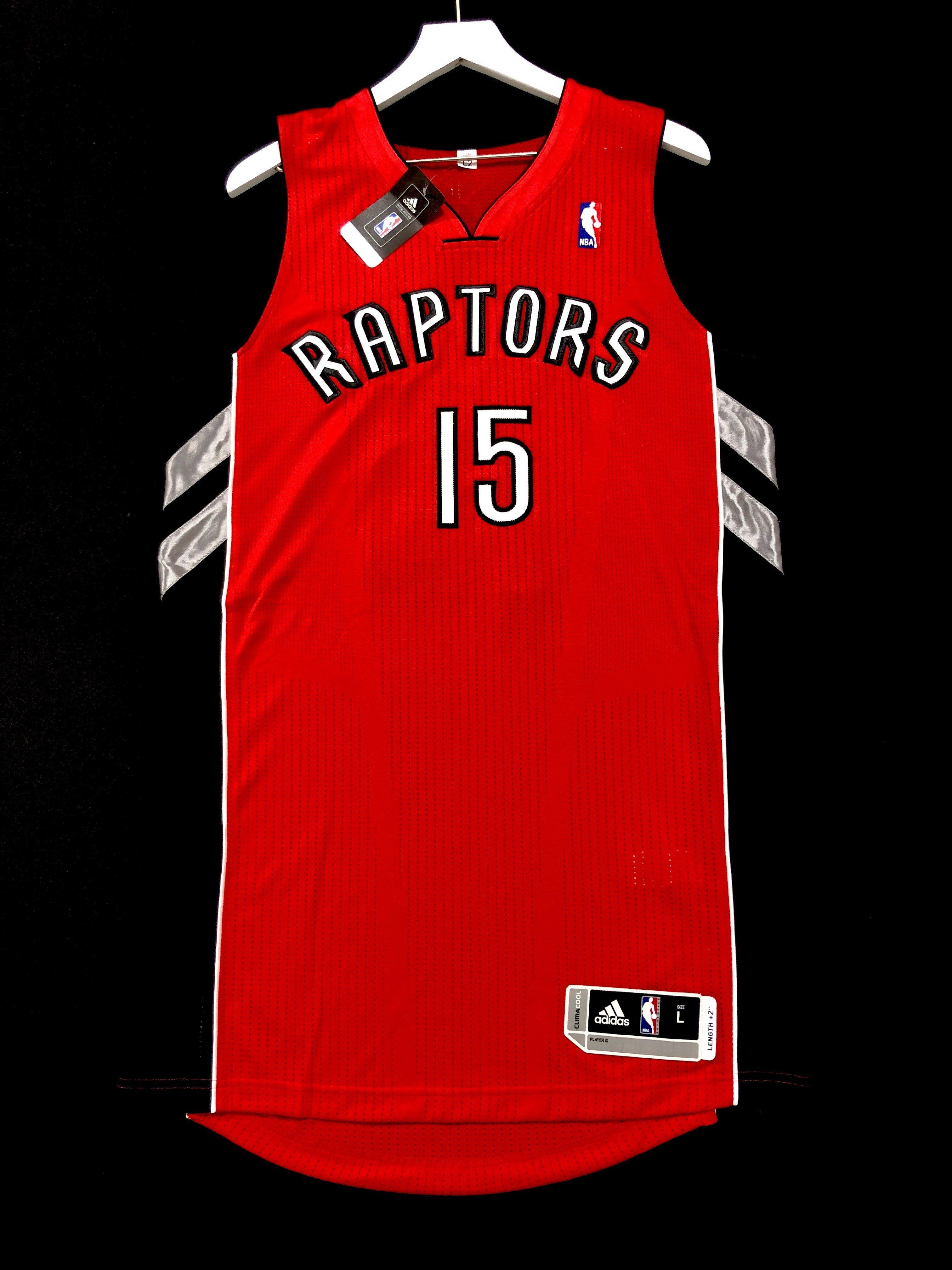 cheaper c8267 f9980 Vince Carter Toronto Raptors Pro Cut Adidas NBA Jersey ...