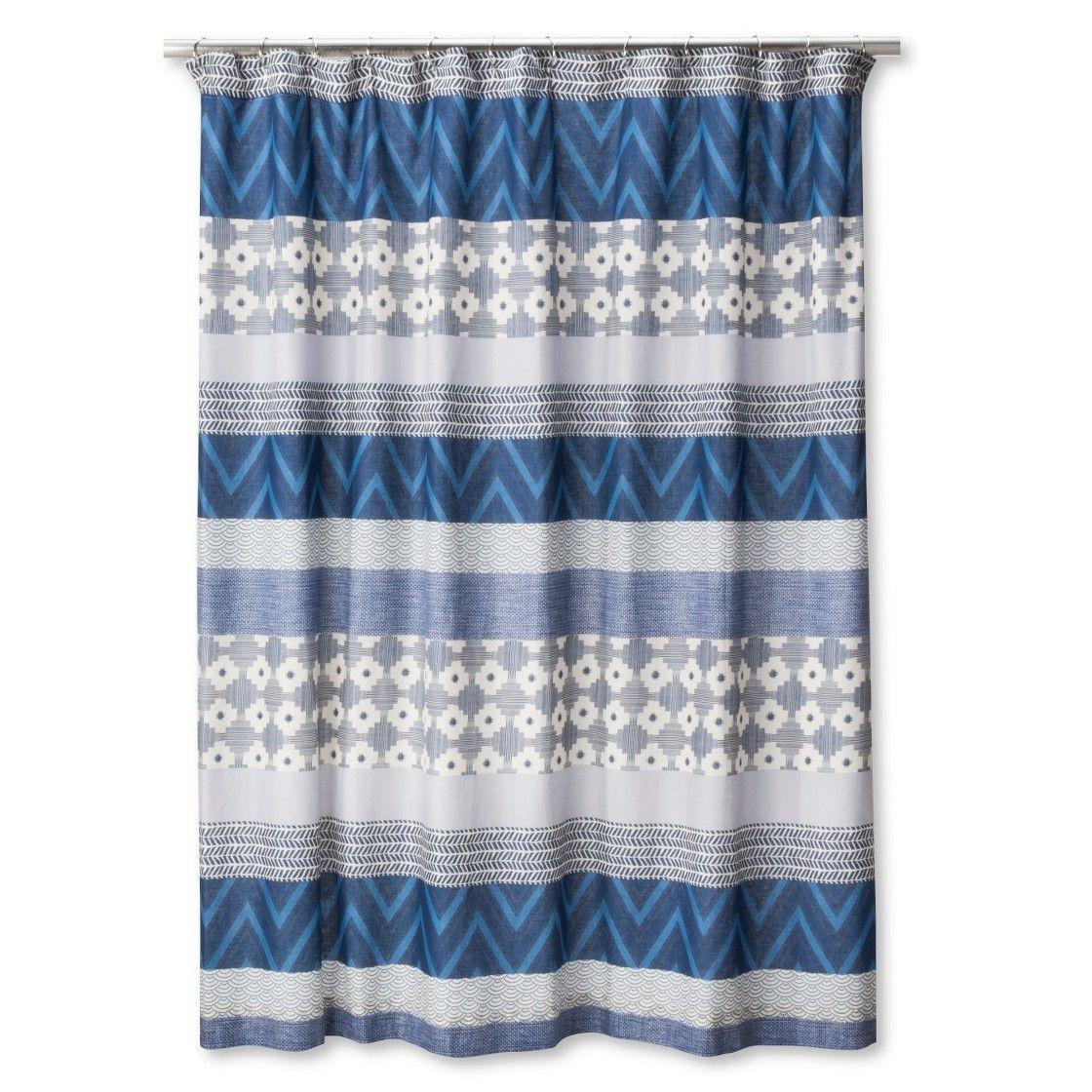 Mudhut Dhurrie Tie Dye Shower Curtain