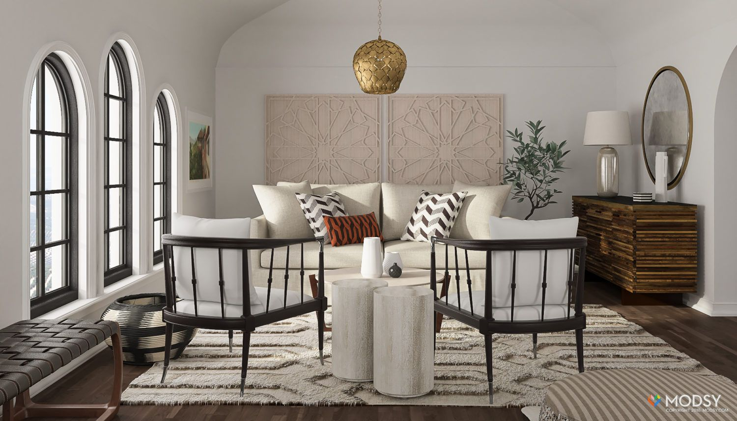A spanish colonial revival living room the granada