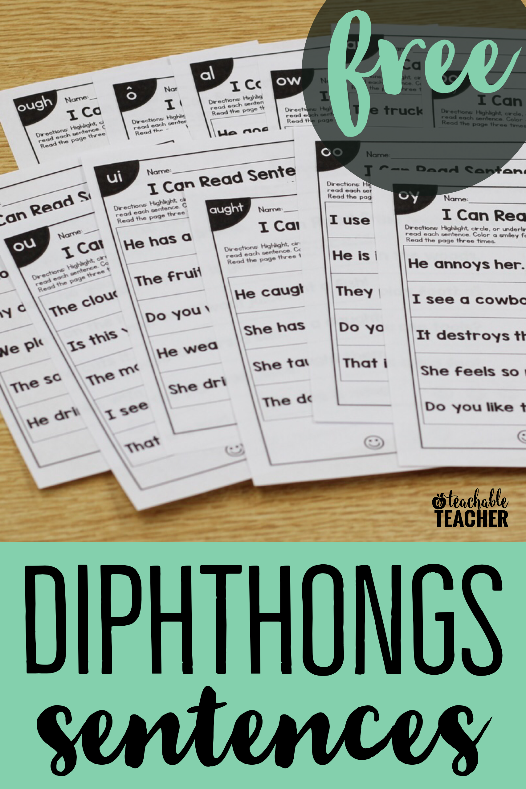 Free Phonics Sentences Activities To Build Mastery And