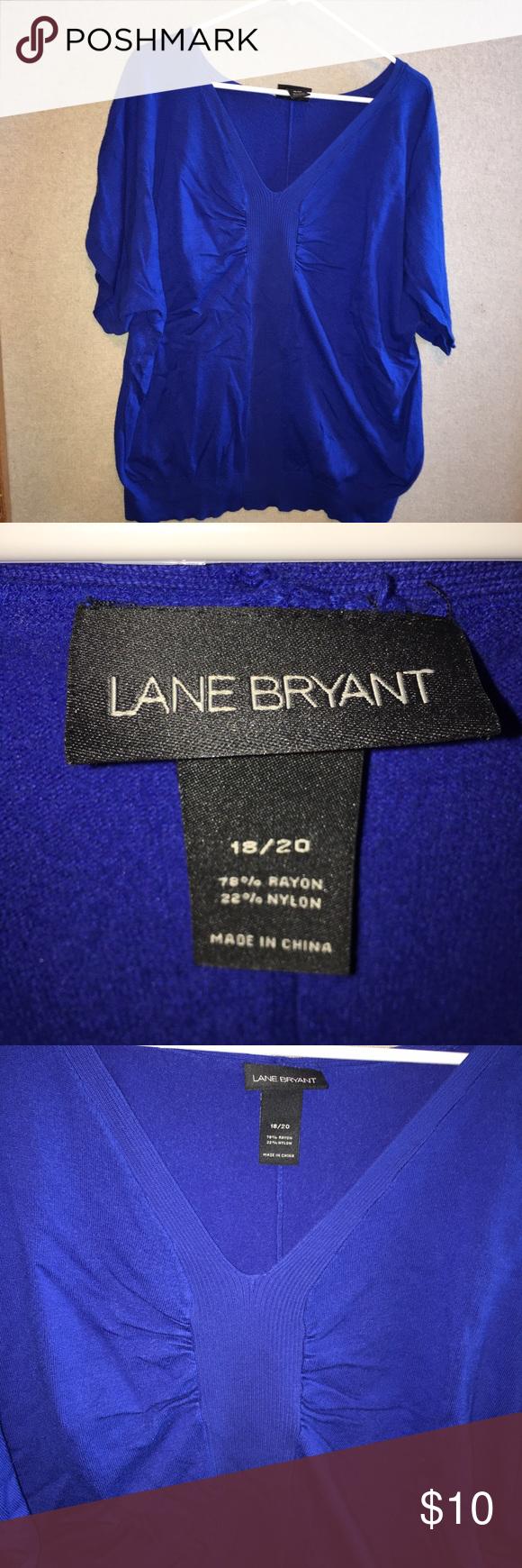 LANE BRYANT royal blue sweater Royal blue v neck sweater Lane Bryant Sweaters Crew & Scoop Necks