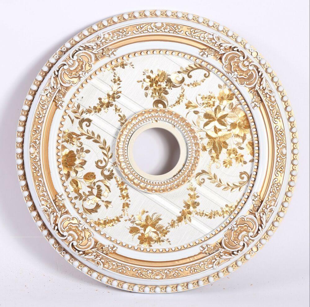 Bs lighting inc ceiling medallion goldwhite 24 rnd3