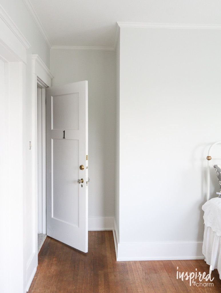 The Bedroom is Painted | White interior paint, White paint ...