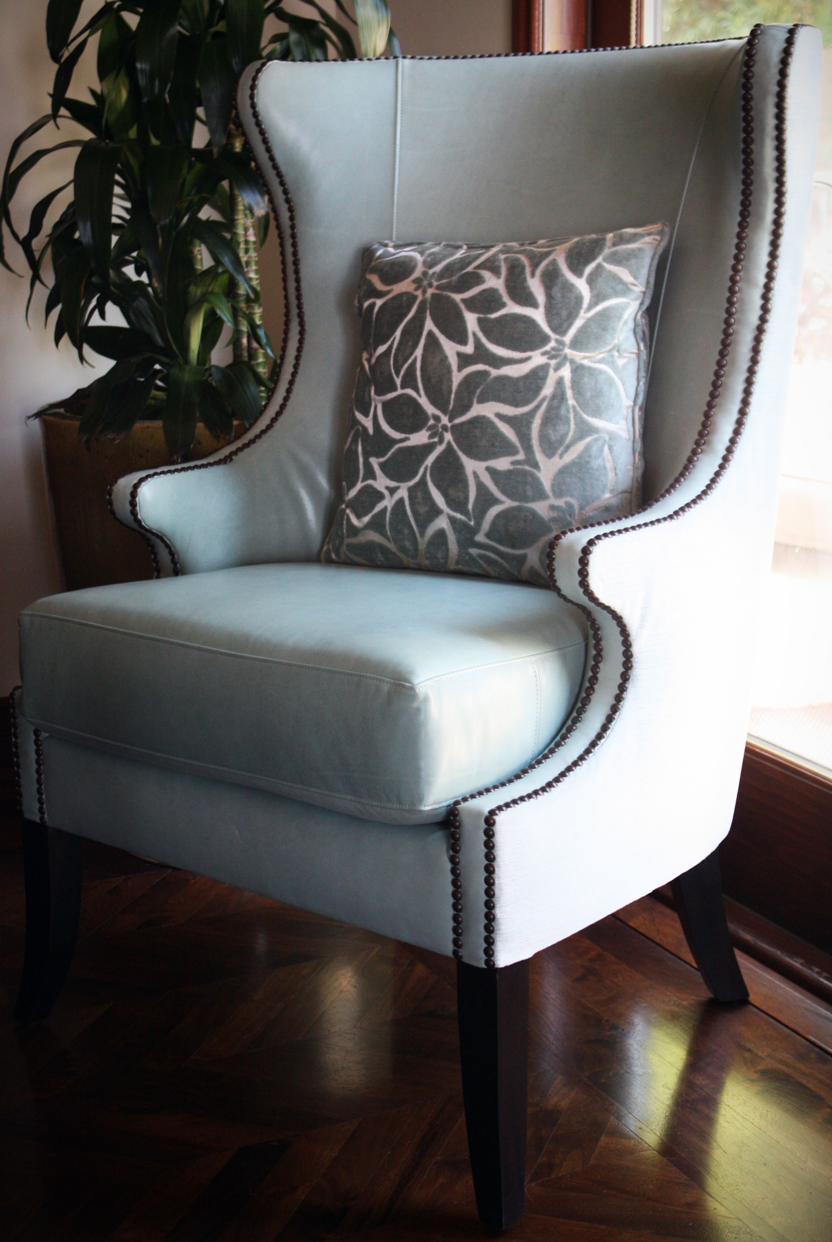 Host/Hostess chairs  - luscious leather inside and soft velvet outside - so special