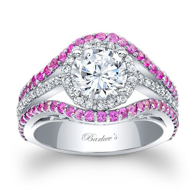 Barkev's Pink Sapphire Engagement Ring 7941LPS
