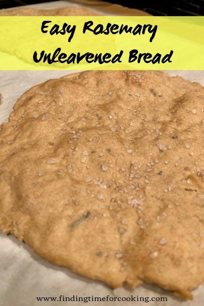 Simple Rosemary Unleavened Bread in 2020 | Bread recipes ...