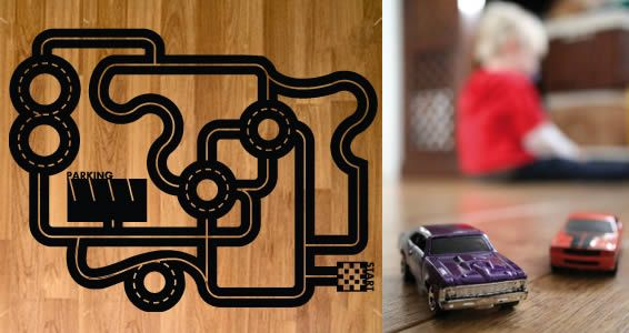 Floor Car Circuit Decal