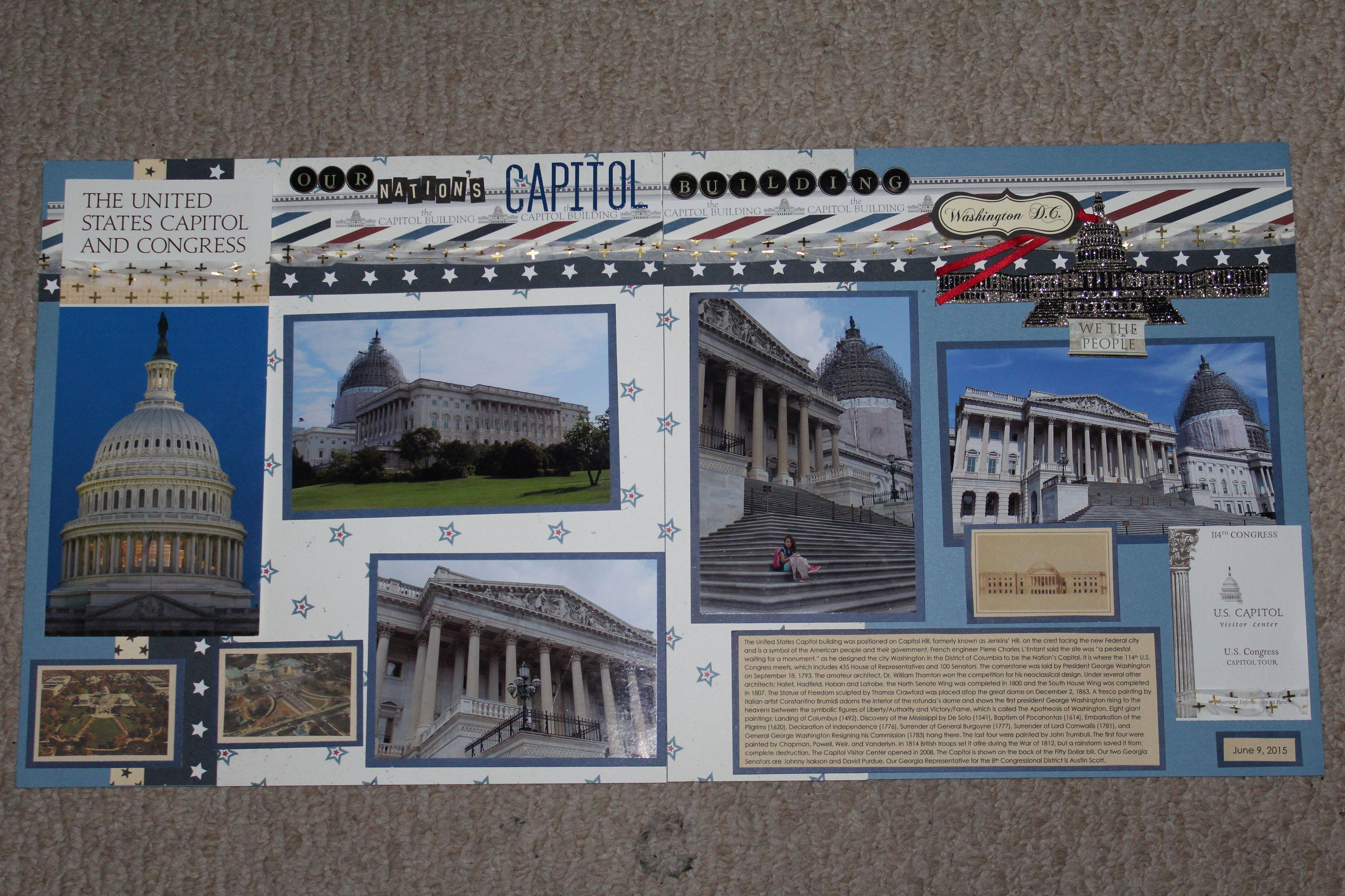 Our Naton's Capitol Building - Scrapbook com | scrapbook-2