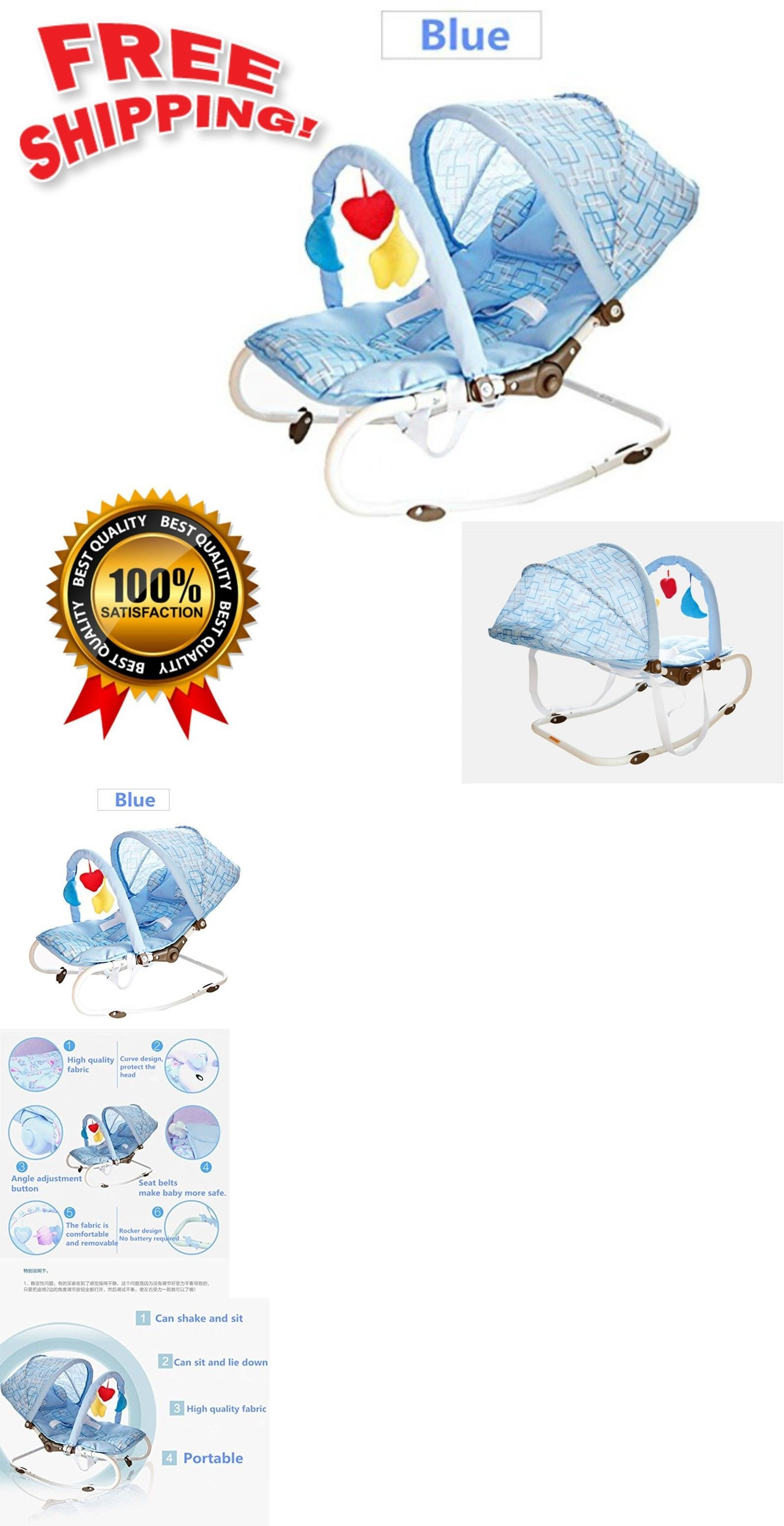 baby sleeper chair small bedroom chairs gear 100223 newborn to toddler portable rocker seat infant swing toy blue buy it now only 106 63 on ebay