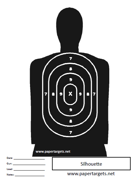 Miscellaneous Shooting Targets Silhouette With Points Shooting Targets Target Paper Targets