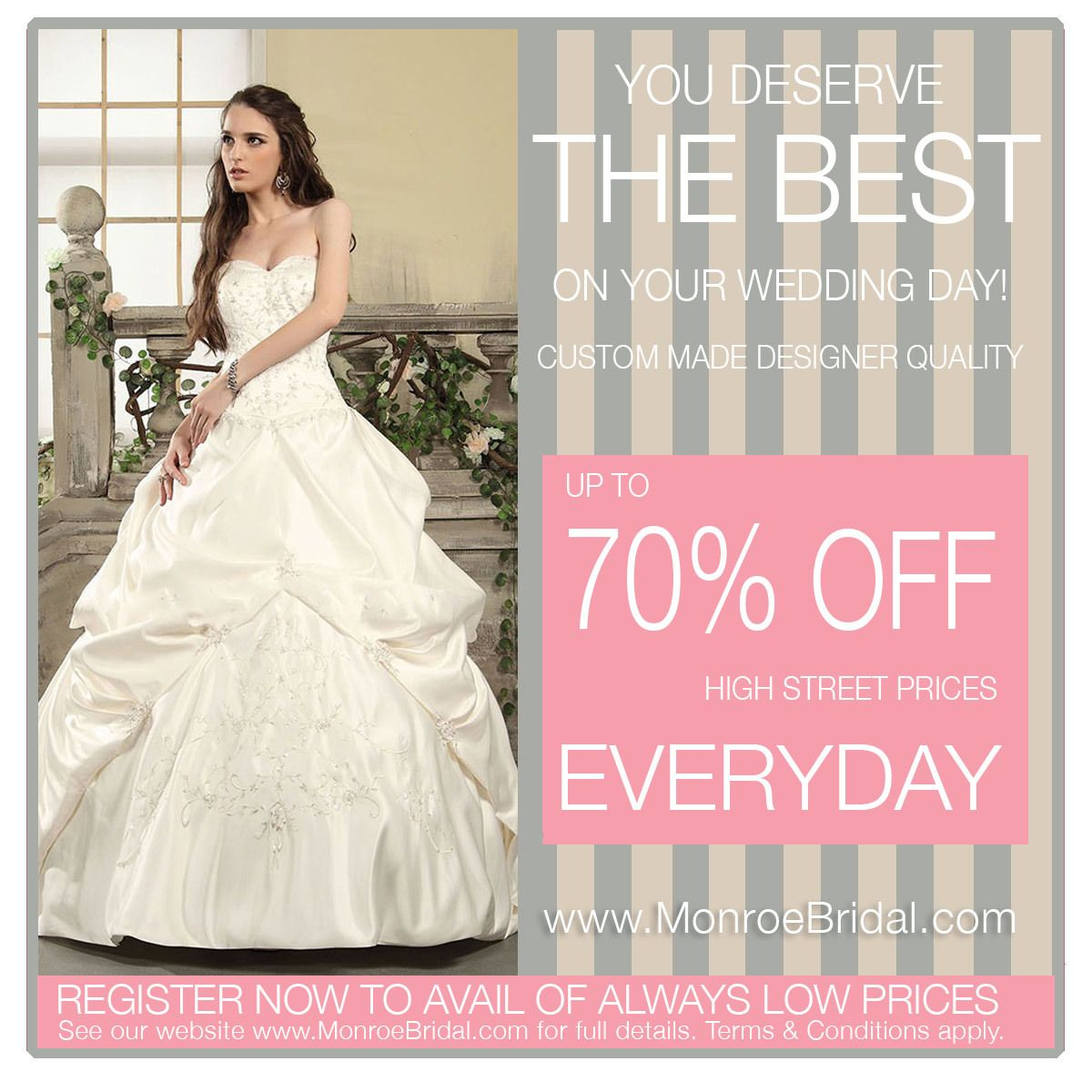 Aden is a beautiful strapless pickup wedding gown with hand ...