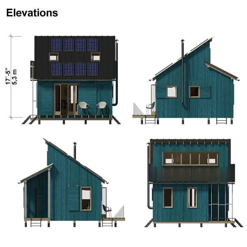 Clerestory House Plans Thelma In 2019 Small Cabin Plans