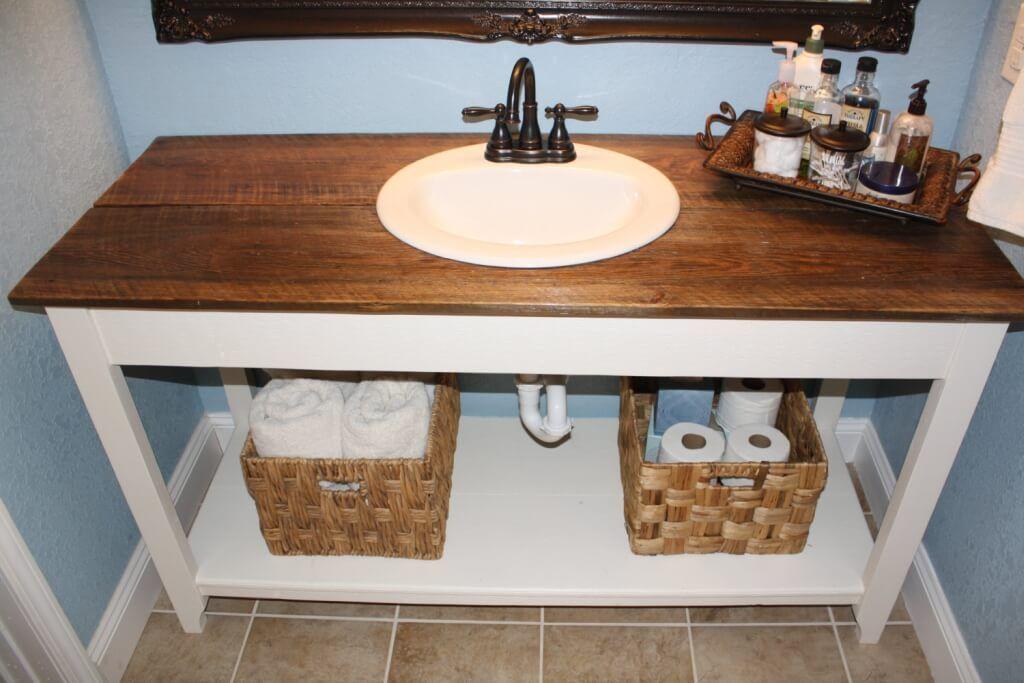 Interessant Aufgearbeiteten Holz Badezimmer Eitelkeit Ideen - badezimmermöbel aus holz