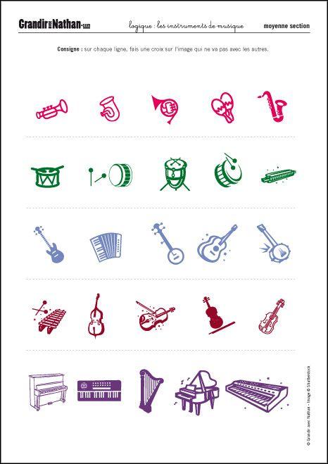 Relativ Logique - Moyenne Section - Les instruments de musique | EX  MA18