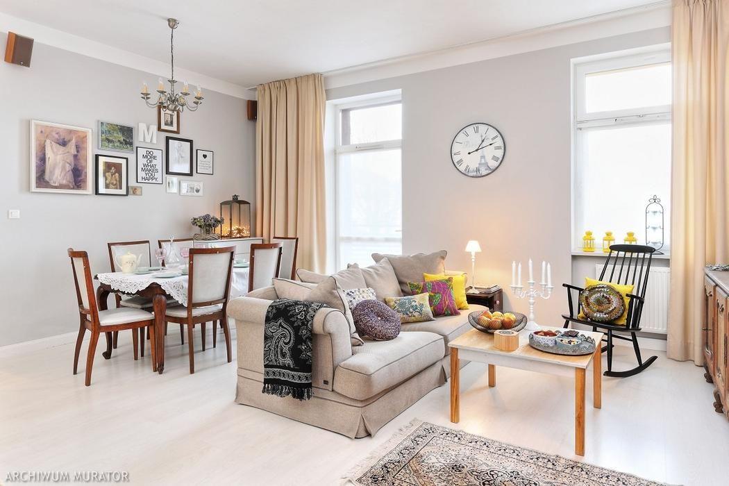 Salon Z Kuchnia W Stylu Glamour Home Home Staging Home Decor