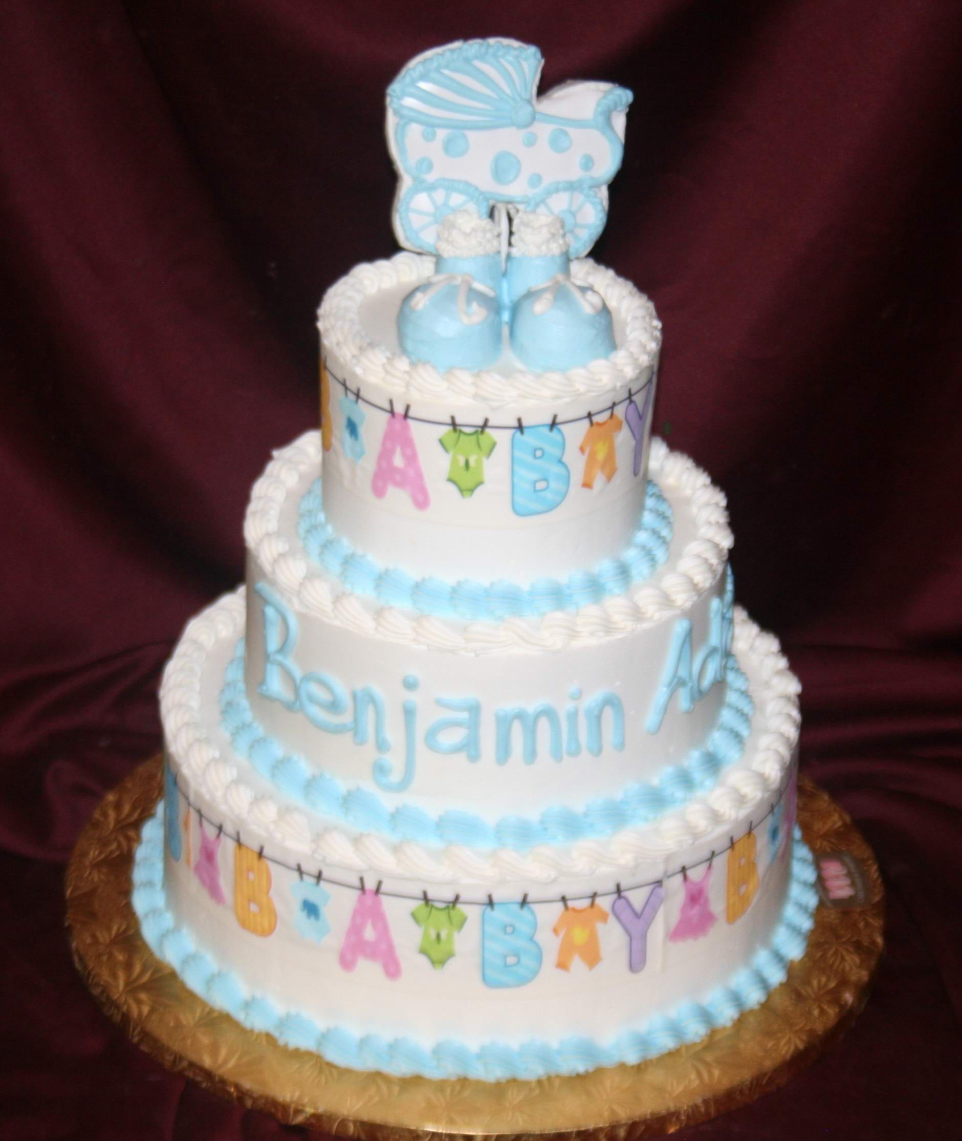 Boys Baby Shower Cake: BUTTER CREAM BABYSHOWWER CAKES