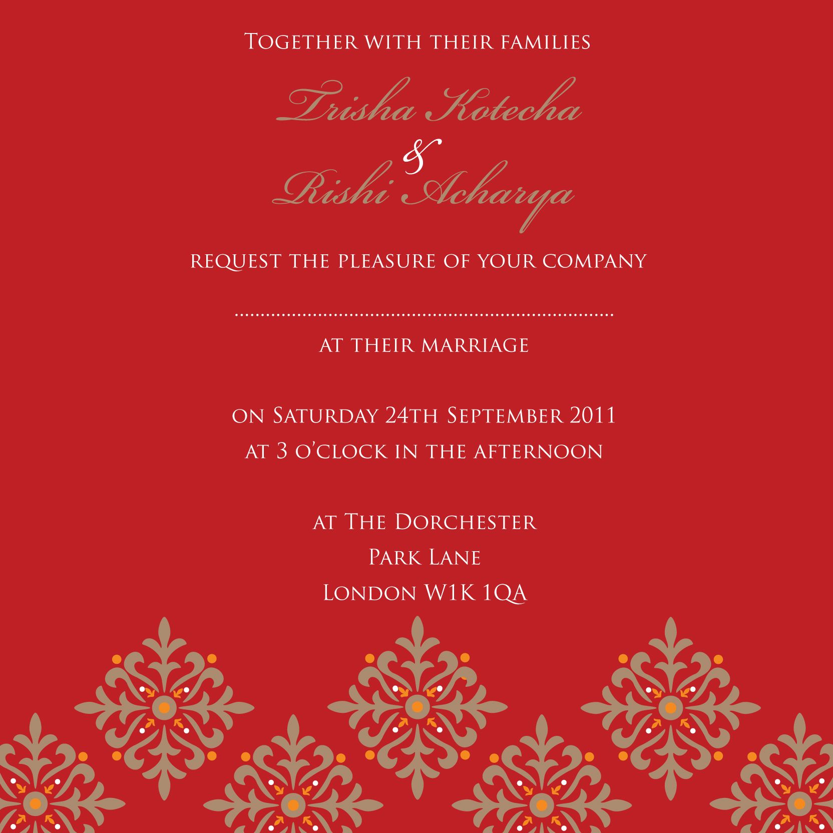 Islamic wedding invitations uk notting