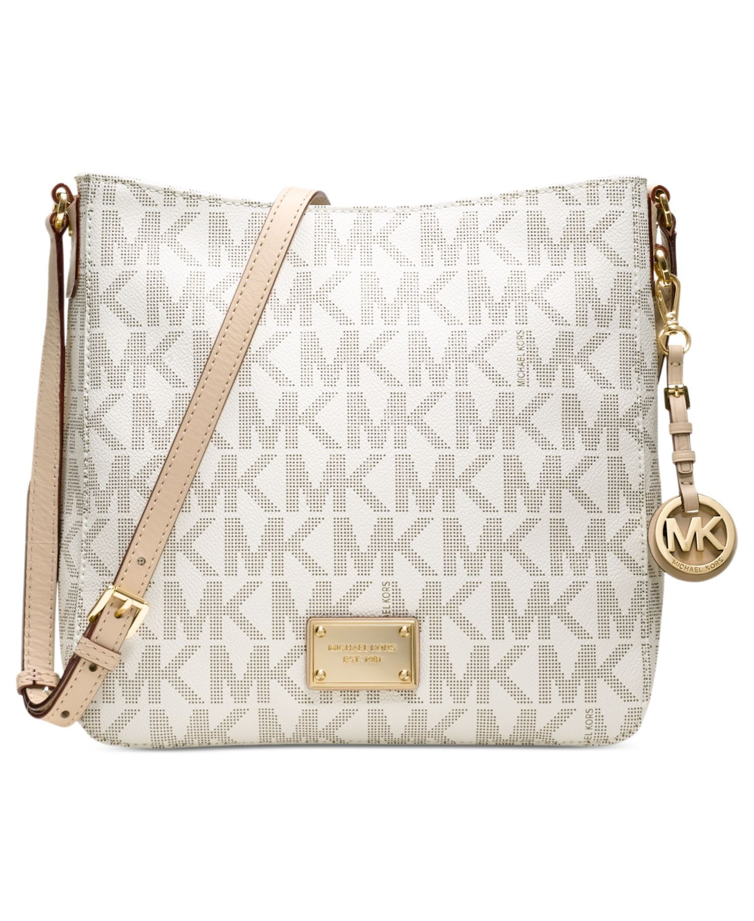 e57ccaf6c1bc MICHAEL Michael Kors Jet Set Travel Large Messenger Bag by Macy s - Found  on HeartThis.