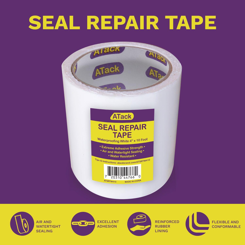 Atack Waterproof White Seal And Repair Tape In 2020 Repair Tape Barrier Tape Leak Repair