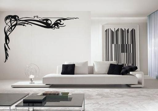 Vinyl Wall Art Designs | Corner Wall Decor | Pinterest | Abstract