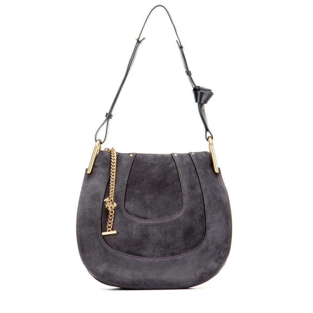 Chloé - Hayley Small suede shoulder bag - Note the knotted leather ...