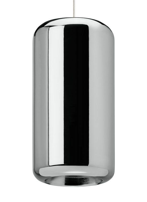 "Tech Lighting 700TDIRDP-LED830 Iridium 6"" Wide Single LED Pendant Metallic C"