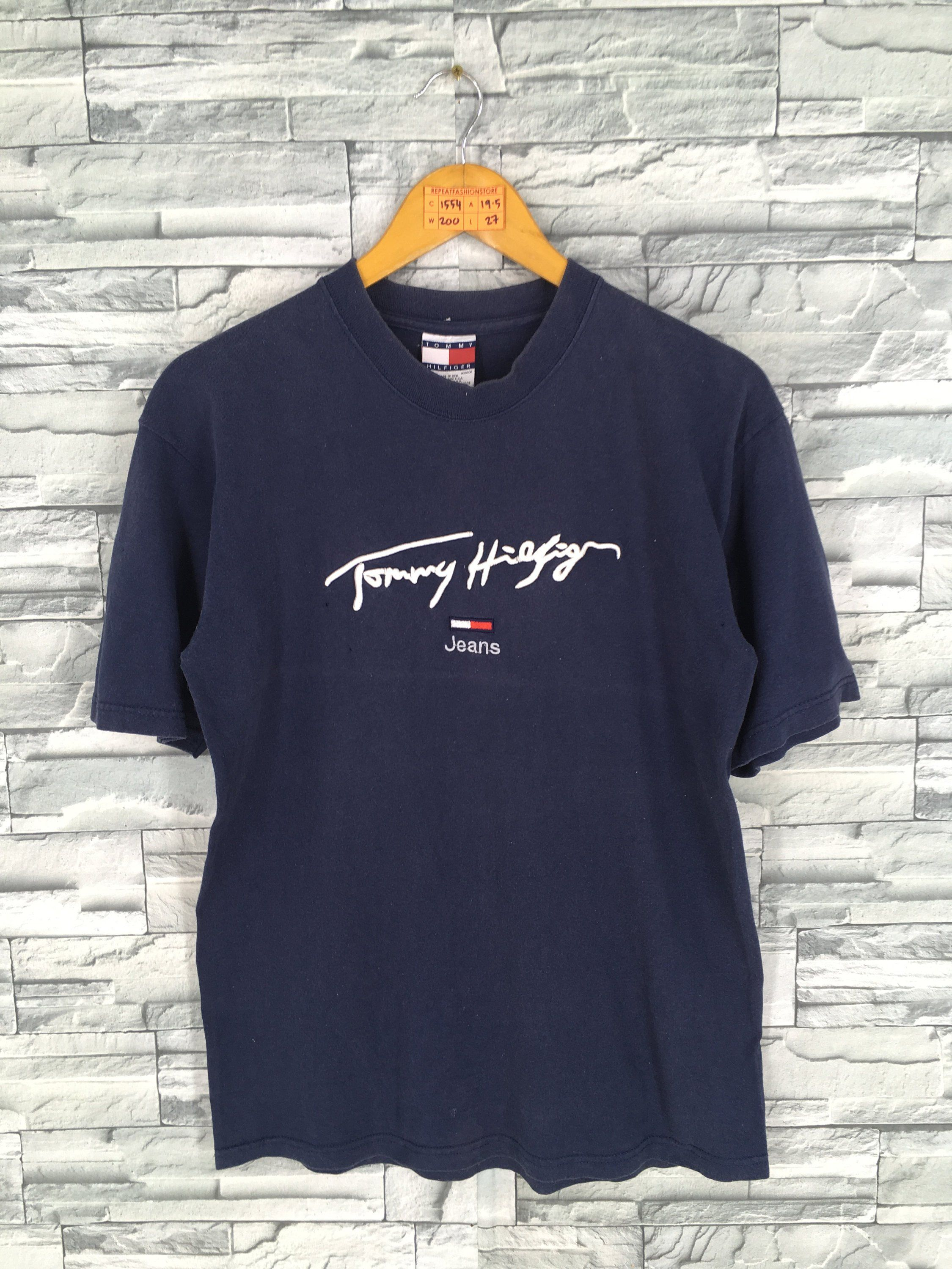 db12f80b3fb3 Vintage 1990 s TOMMY HILFIGER T shirt Medium New York Tommy Jeans 85 Hip Hop  Usa Tommy Saling Gear Navy Blue Tee T shirt Size M by REPEATFASHIONSTORE on  ...