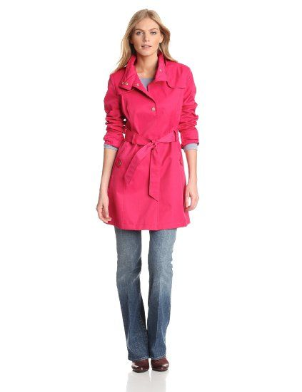 afba6cdde4b Amazon.com  Tommy Hilfiger Women s Water Resistant Hooded Rain Coat   179.99