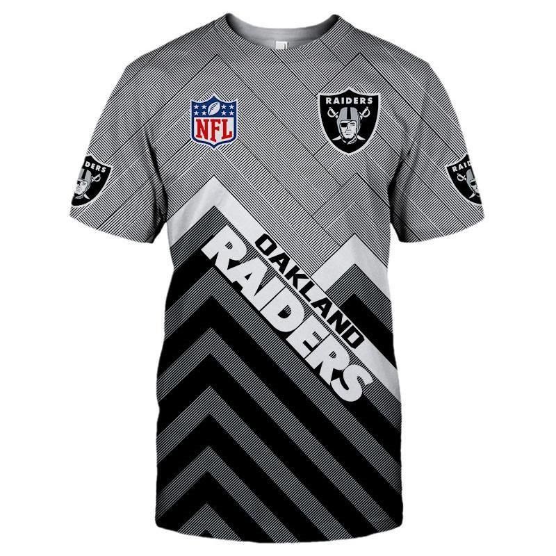size 40 a48f1 a43b8 Hot sales ! 2019 Summer 3D Custom Oakland Raiders Cheap T ...