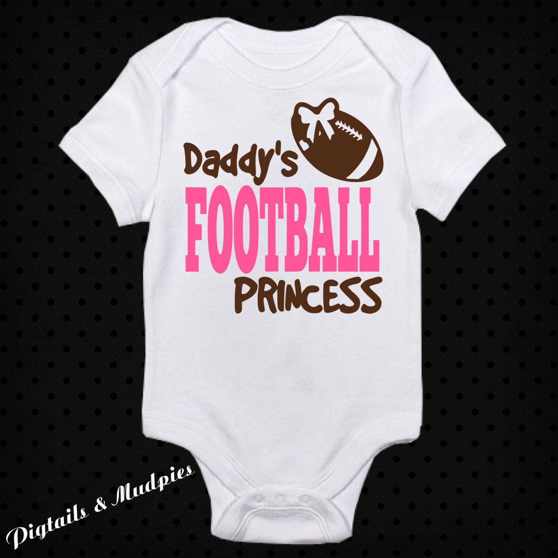 5adbefc7a Daddy's Football Princess Girl Bodysuit~Novelty Baby Shower Gift ~Infant  Girl Bodysuit~Baby